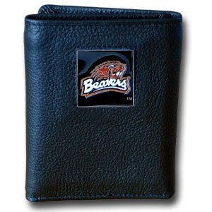 NCAA Oregon State Beavers Leather Tri-Fold Wallet