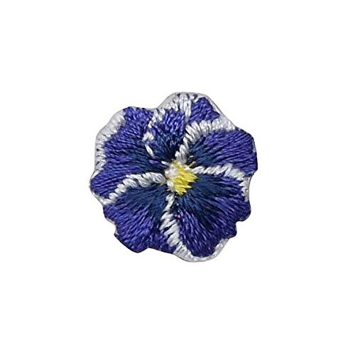 (Pansies - Purple - Pansy Flower - Small Mini - Iron on Applique/Embroidered Patch)