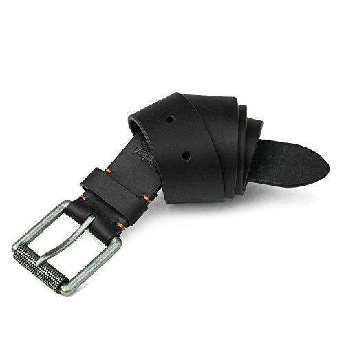Timberland PRO Men's 40mm Workwear Leather Belt, Black/Roller Buckley, 36 (Roller Leather)