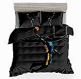 SxinHome Basketball SuperStar Slam Dunk Printed Duvet Cover Set for Teens Boys Girls,Full 3D Bedding Set,3pcs 1 Duvet Cover 2 Pillowcases(no Comforter inside) By
