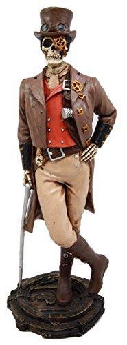 Atlantic Collectibles Steampunk Skeleton Costume Gentleman Figurine 8.75
