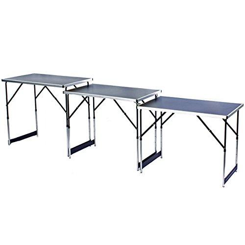 3x Table multifonction multi-usages Table pliante table pliante table à tapisser du Marché Lot de 3
