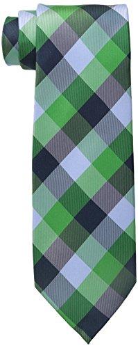 Tommy Hilfiger Men's Buffalo Tartan Tie, Green, One (Buffalo Plaid Tie)