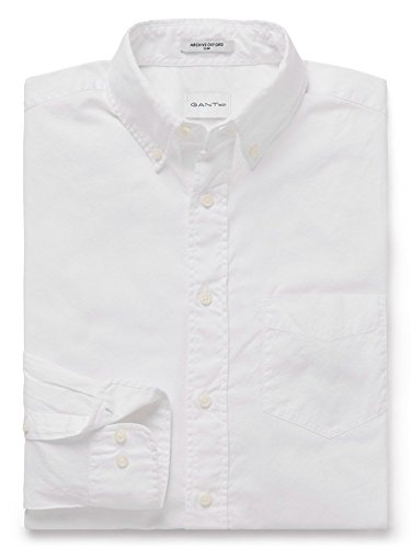 GANT Men's 18013082632110 White Cotton Shirt by GANT