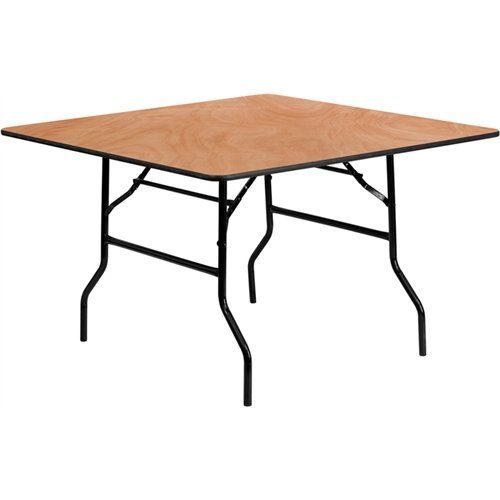 Square Wood Folding Banquet Table ()