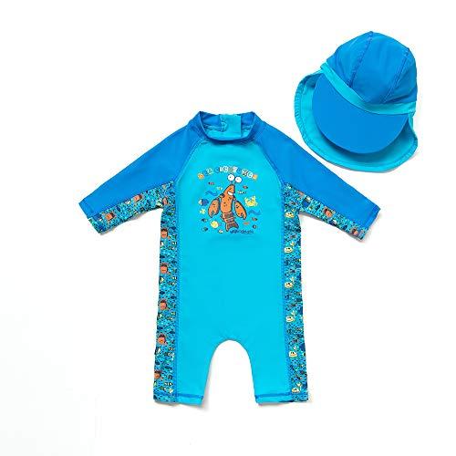 Bonverano(TM Kids UPF 50+ Sun Protection S/S One Piece Zip Sun Suit (18-24 Months, Cartoon ()