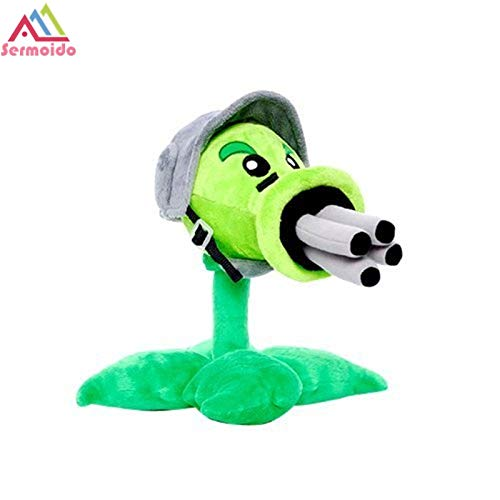 RAFGL Sermoido Plants Vs Zombies Toys PVZ Gatling Pea Cute Soft Peashooter Plant Plush Toy Tall Doll Toy for Kids Gift Dbp214 Thing You Must Have Funny Gifts The Favourite Comic by RAFGL