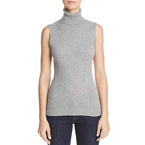 - Theory Womens Cashmere Turtleneck Pullover Sweater Gray L