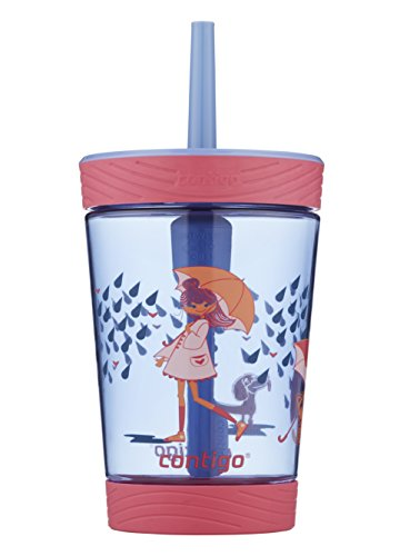 Contigo Spill-Proof Kids Tumbler, 14oz, Wink with Raining Cats/Dogs