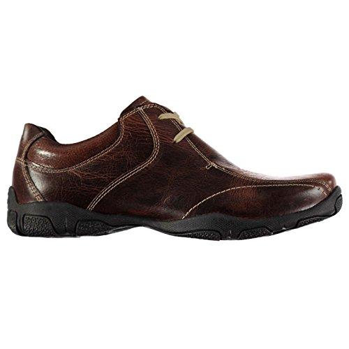 Kangol Mens Euston Lace Shoes Casual Up Padded Ankle Collar Comfortable Fit Dark Brown UK 10 - Uk Kangol