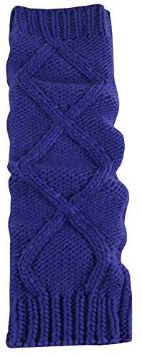 N'Ice Caps Women's Fashion Cable Knit Leg Warmers (One Size, Purple) - Adult Wide Leg