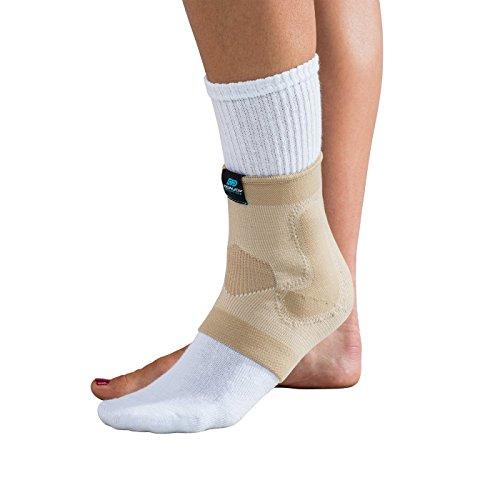 DonJoy Advantage DA161AV02-TAN-S Deluxe Elastic Ankle for Sprains, Strains, Tan, Small fits 7.75