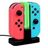 Cheap Fintie Charging Dock for Nintendo Switch Joy-Con, [LED Indication] Joy-Con Controller Charger Station with Type C Cable (Black)