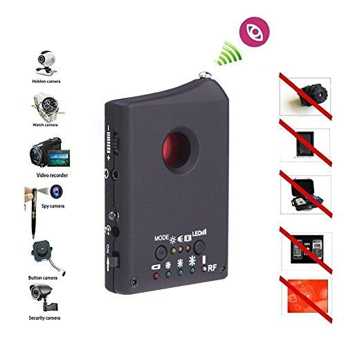 Amzchen RF Signal Detector, Anti-Spy Detector Hidden Camera GSM Audio Bug Detector GPS Lens RF Signal Finder