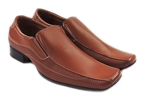 NEWFERRO ALDO CLASSIC MENS LEATHER LINED DRESS SHOES LOAFER SLIP ON MFA19505 BROWN