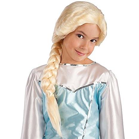 Peluca trenza Frozen disfraz de - HALLOWEEN - Blond - 992: Amazon.es: Juguetes y juegos