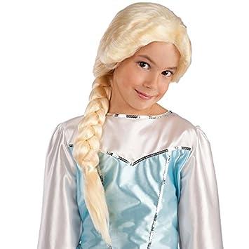 Peluca trenza Frozen disfraz de – HALLOWEEN – Blond – 992