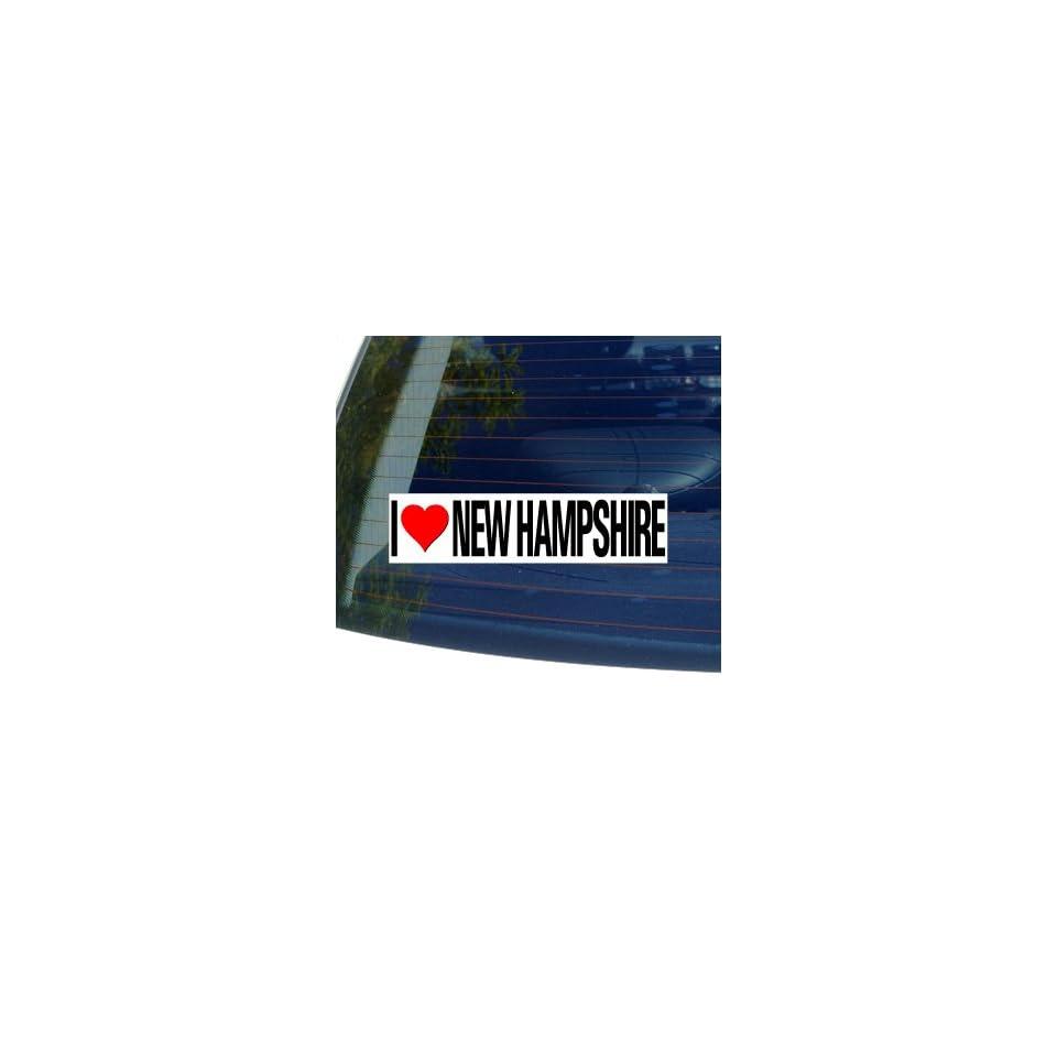 I Love Heart NEW HAMPSHIRE   Window Bumper Sticker