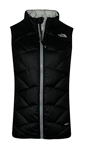 The North Face Youth Girls Luna Reversible Down Full Zip Vest (M 10-12, Tnf Black) by The North Face