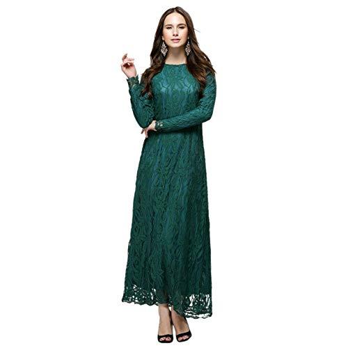 3d2b85a8f38b Caftano Di Poonkuos Abiti Abito Arabico xl Donna In Larghi Da M Dubai Verde  Abaya Pizzo ...