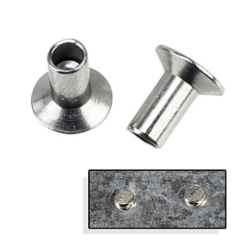 Pack of 100 Steel Hammer Rivets - Made in (Klik Lok Plastic Rivet)