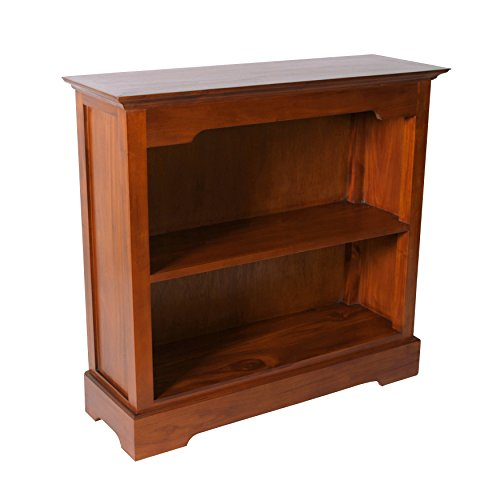 - NES Furniture NES Fine Handcrafted Furniture Solid Mahogany Wood Vega Bookcase - 39