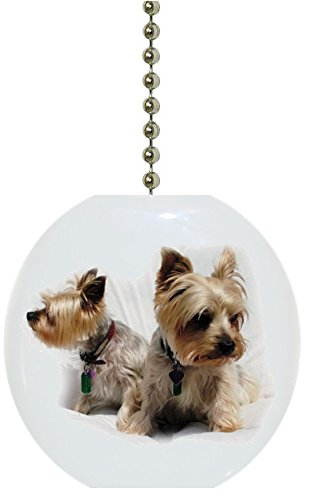 Terrier Pups Solid Ceramic Fan Pull