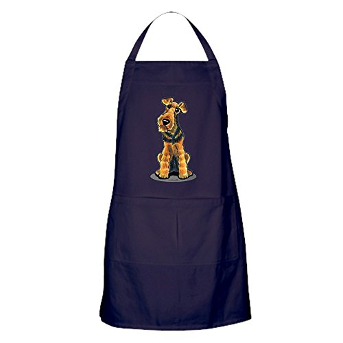 (CafePress Airedale Welsh Terrier Kitchen Apron with Pockets, Grilling Apron, Baking Apron)