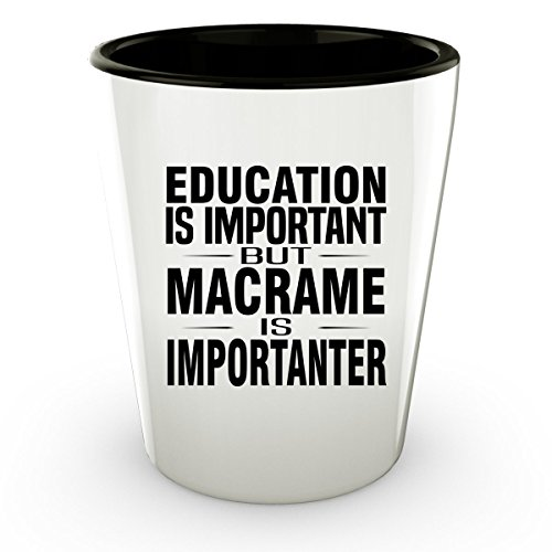 MACRAME Shot Glass - Good for Gifts - Unique Coffee Cup - Dream Catcher Shot Glass