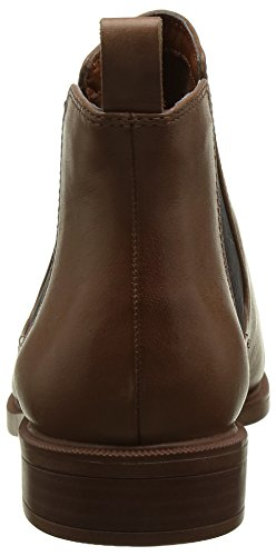 Tan Clarks Femme Leather Taylor Bottes Chelsea Marron Shine n6PwA6qHY