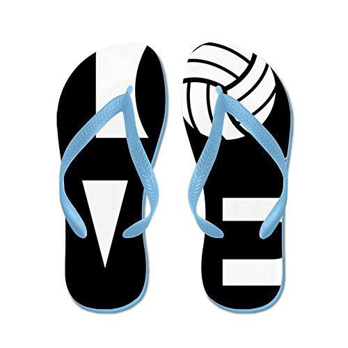 Cafepress Love Volleyball Sandalo Infradito, Divertenti Sandalo Volleyball Infradito   8dce24