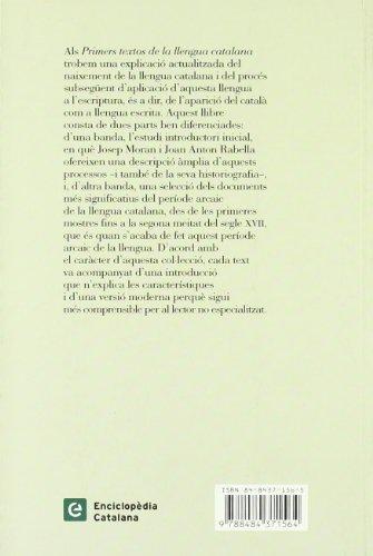 Primers textos de la llengua catalana (C.CAT.) Josep Moran Ocerinjauregui