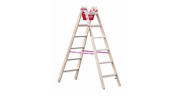 espalderas Escalera 6 Peldaños, madera con gancho para cubo y estante funda: Amazon.es: Industria, empresas y ciencia