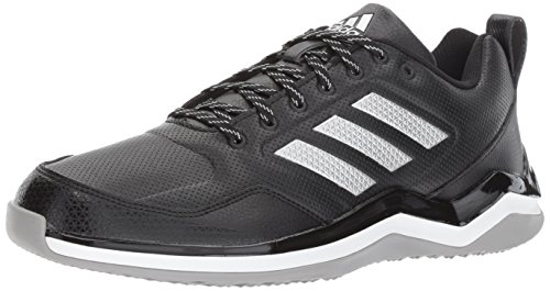 adidas Men's Freak X Carbon Mid Cross Trainer, Black/Metallic Silver/White, 9 Medium US ()