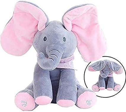 Amazon.com: MLSH Floppy The Peek A Boo Elephant, Juguete ...