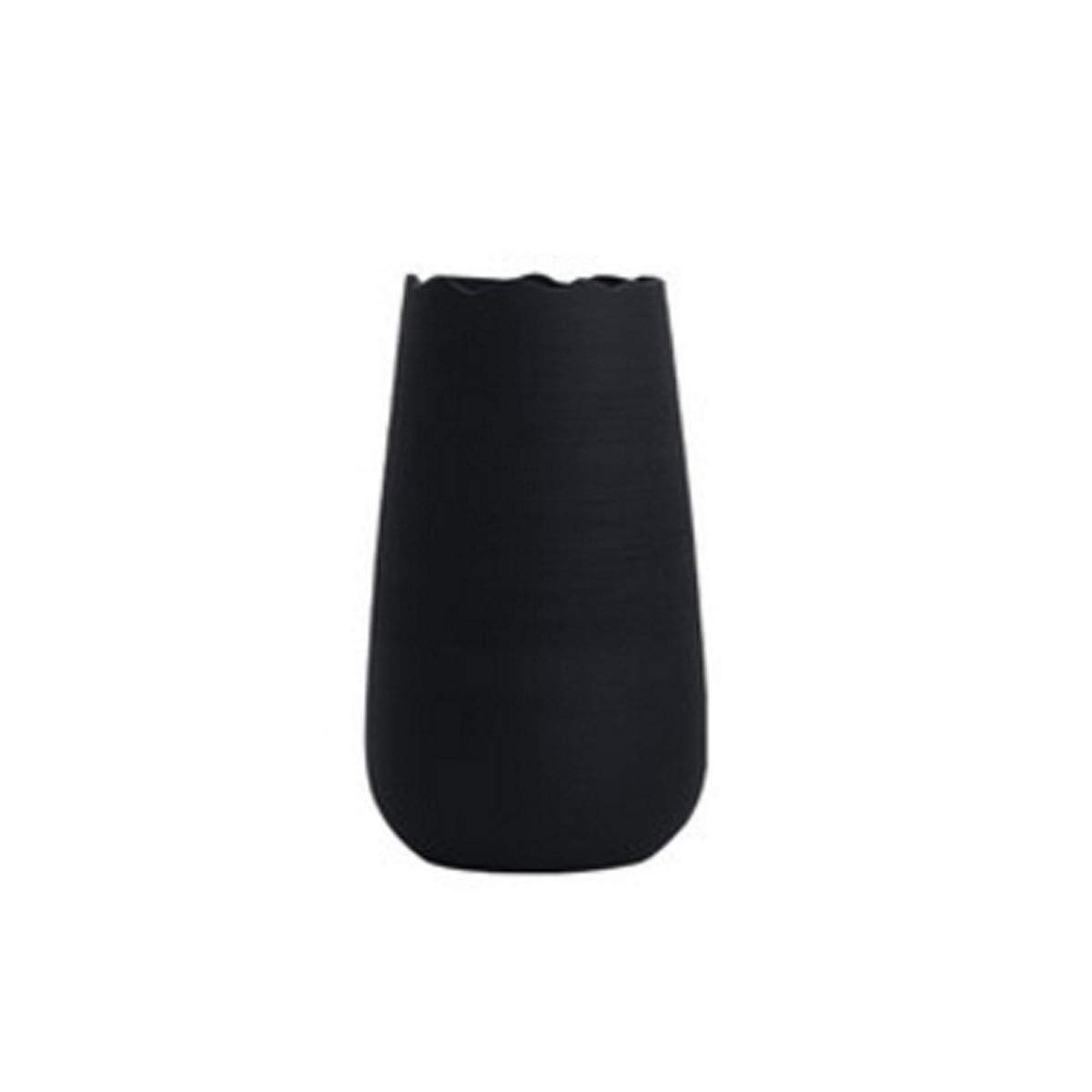 花瓶、北欧モダンスタイルのセラミック花瓶、リビングルームオフィスクリエイティブ水耕ヨーロッパスタイル、スモールグレー (Color : Black 1) B07RQTJQRC Black 1