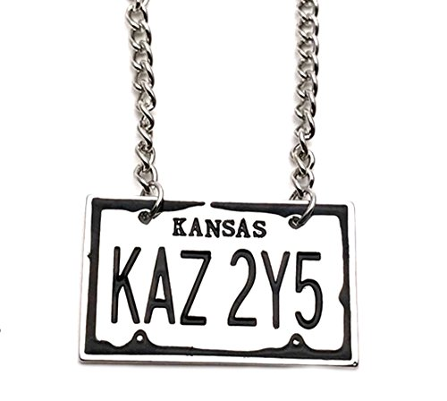 Athena Brands Supernatural TV Series License Plate Premium Quality Pendant Necklace with Gift Box