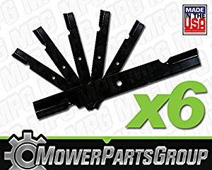 MowerPartsGroup (6) Notched Hi Lift Blades Replace Bad Boy 038-6050-00 60'' Deck