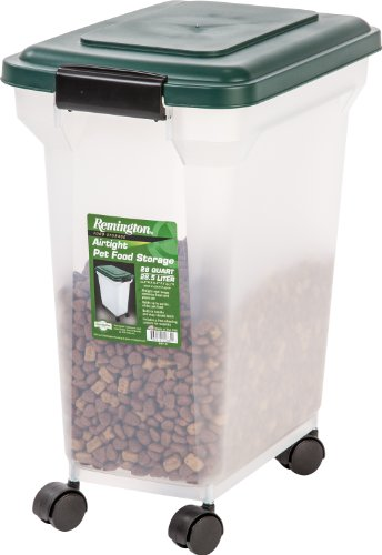 IRIS Remington Airtight Pet Food Storage Container, 22-Pounds, Hunter Green ()