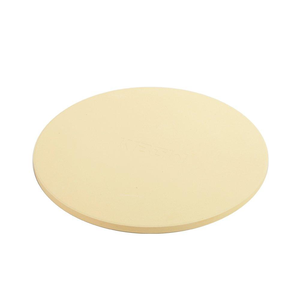 "KIBOW 15"" Round Cordierite Ceramic Pizza Grilling Stone for Ovens & Grills"