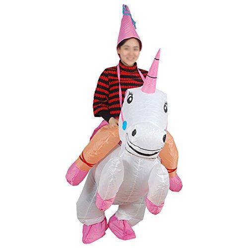 EQUICK Inflatable Costume Santa Claus Deer Riding Dress Christmas Decration Suit Funny Dinosaur Unicorn Party Cosply Child Unicorn