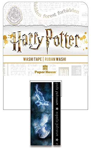 Paper House Productions Harry Potter Expecto Patronum Set of 2 Foil Accent Washi Tape Rolls for Scrapbooking and Crafts