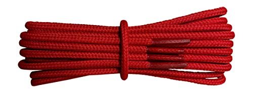 Strong Red Boot Laces - 4 mm round - ideal for walking and hiking boots Dr Martens - Length 36
