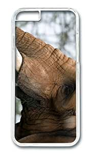 MOKSHOP Adorable elephant head Hard Case Protective Shell Cell Phone Cover For Apple Iphone 6 (4.7 Inch) - PC Transparent