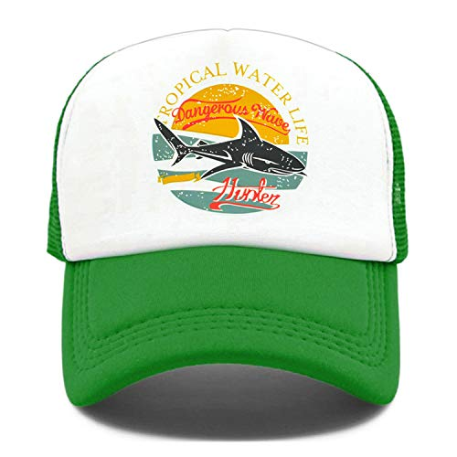 Seaside Trucker Caps Hat Hunter Men Caps Cool Hip Hop Summer Colorful Mesh Baseball Cap Hat for Men Women Green
