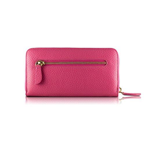 Tressette Exklusive Damen-Geldbörse Italienisches Leder Pink