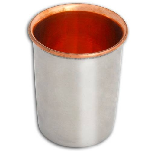 RoyaltyRoute Copper Stainless Steel Tumbler Drinking Glasses Water Vessel for Ayurvedic Health Benefits, Capacity 250 Ml