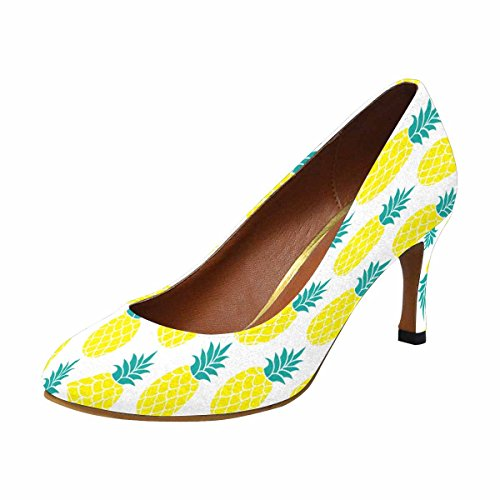 InterestPrint Womens Classic Fashion High Heel Dress Pump Pineapple