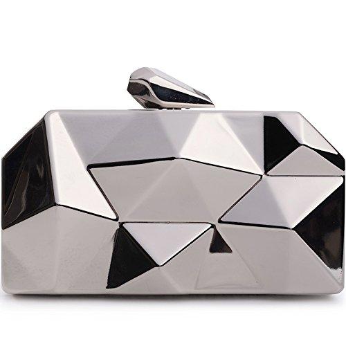 Women Clutches Fashion Geometric Evening Bags Metal Handbag Purse For Parties ()