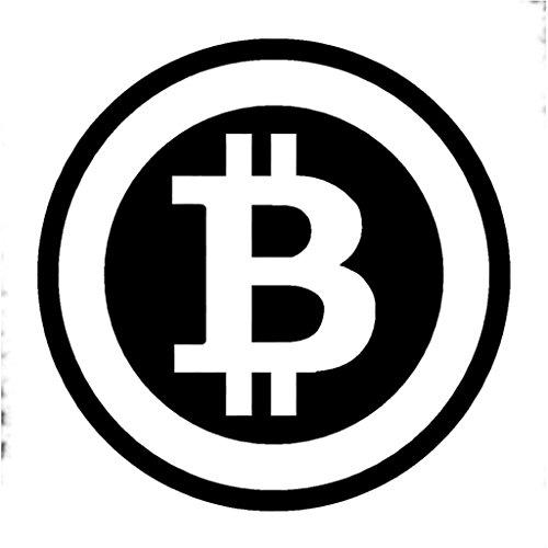 Bitcoin Vinyl Decal Sticker | Cars Trucks Vans Walls Laptops Cups | Black | 5 inches | KCD1311